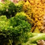 Govedina z želodčki, brokolijem in ajdovo kašo