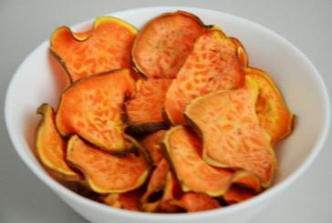 Čips iz sladkega krompirja: njam!